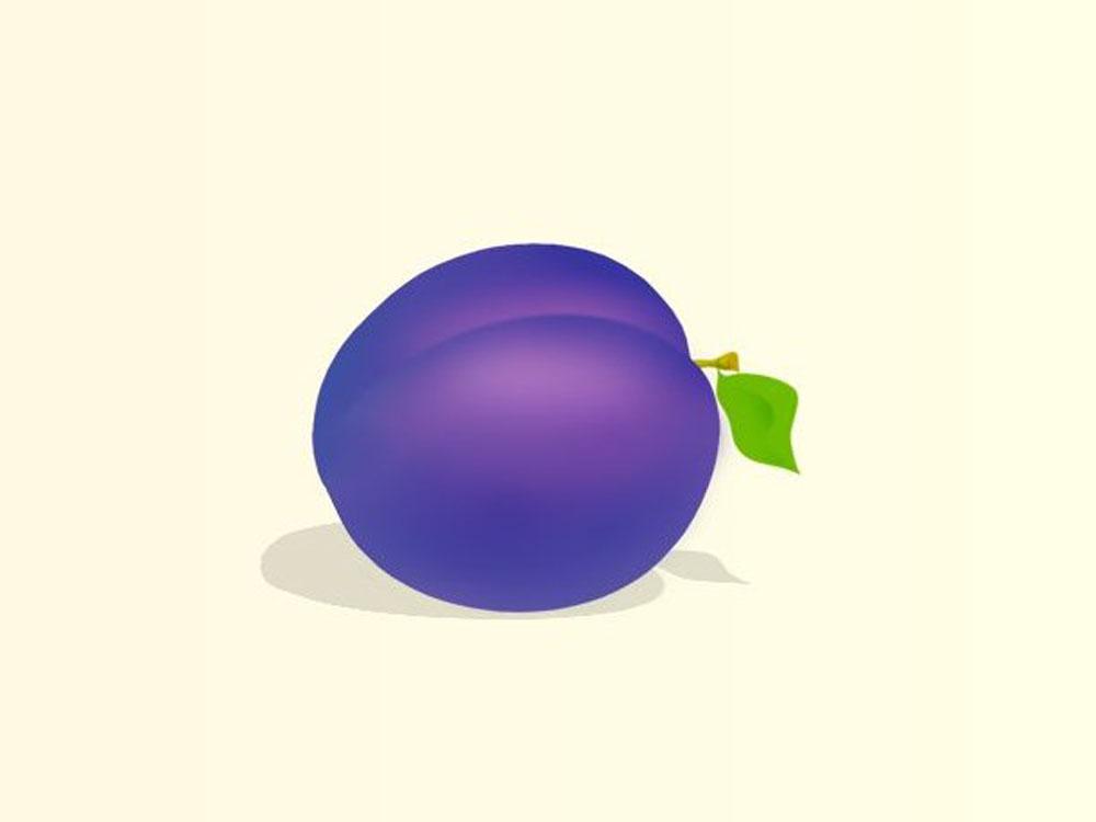 Раскраски-Овощи, фрукты, ягоды-Слива