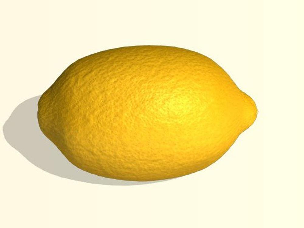 Раскраски-Овощи, фрукты, ягоды-Лимон