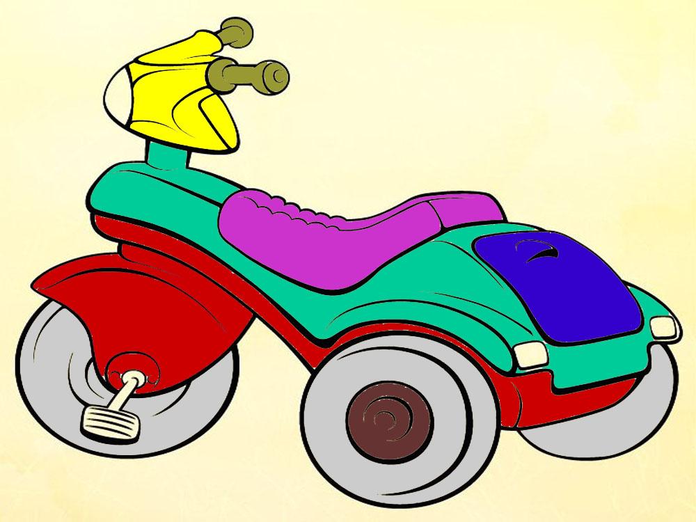 Раскраски-Разное-Велосипед-мотоцикл