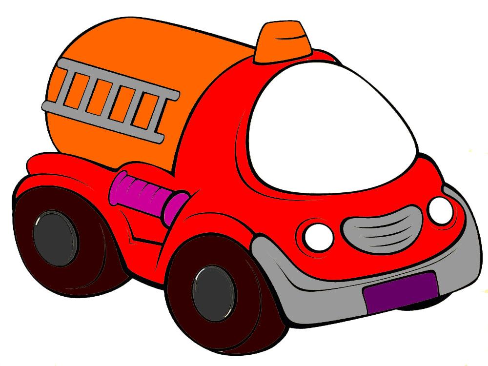 Раскраска машина русская