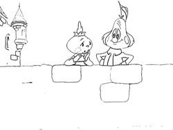 Раскраски-Чиполлино-Чиполлино и Груша