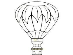 Раскраски разное дирижабль воздушный